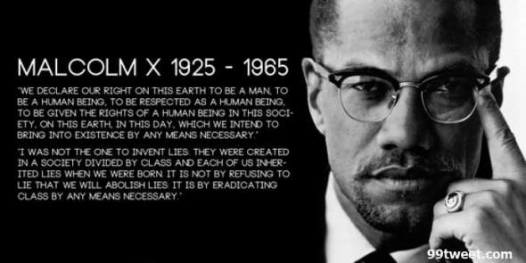 Malcolm X Twitter Header Quote